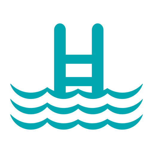 Ladder swimming pool icon