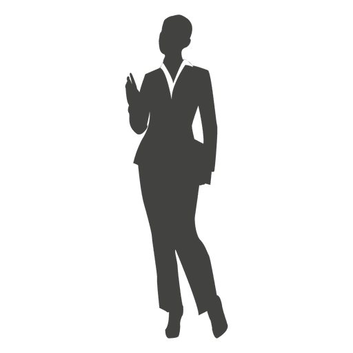 Lady business executive carrying files