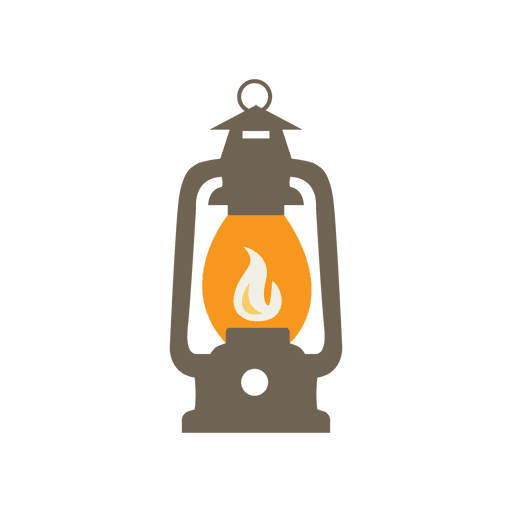 Lantern camping kit icon Transparent PNG