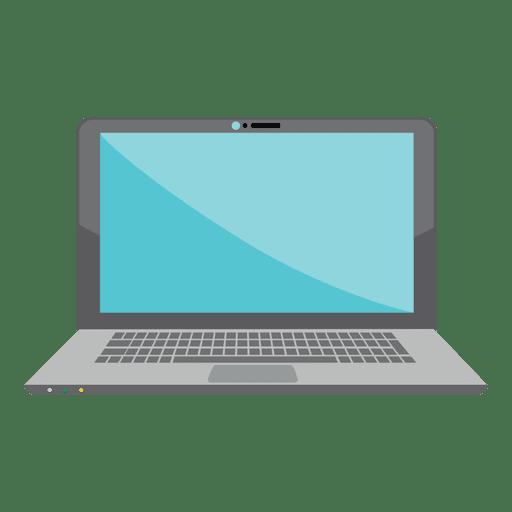 Diseño de icono de laptop plana