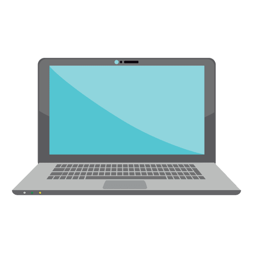 Flat laptop icon design Transparent PNG