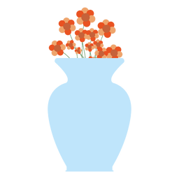 Tina grande de flores azules