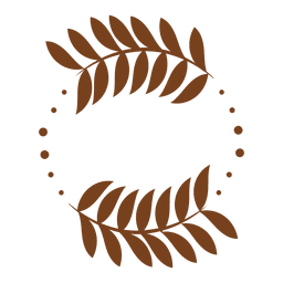 Grinalda de decoração de folhas