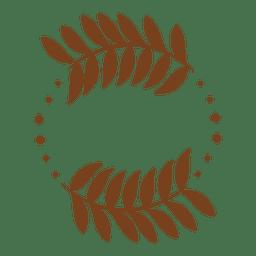 Guirnalda de decoración de hojas.