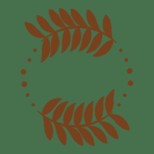 Guirnalda de decoración de hojas. Transparent PNG