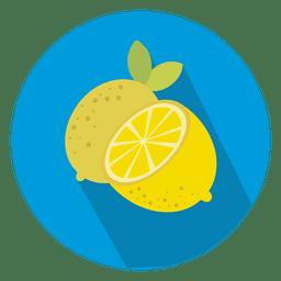 Ícone de círculo de limão
