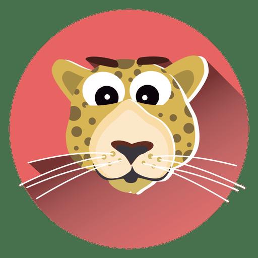 Icono de círculo de dibujos animados de leopardo Transparent PNG