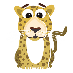 Leopard funny cartoon