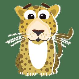 Leopardo dos desenhos animados engraçados