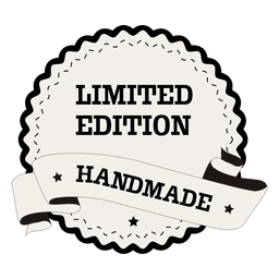 Handgemachtes rundes Etikett in limitierter Auflage