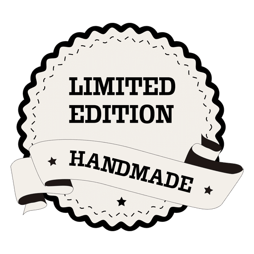 Limited edition handmade round label Transparent PNG
