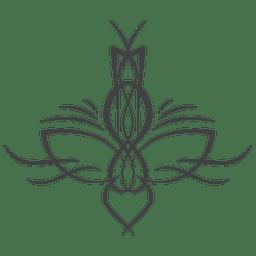 Linha arte pinstripe ornamentado