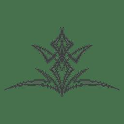 Linha arte pinstripe ornamento