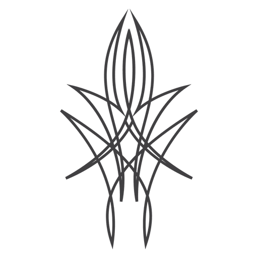 Line art pinstripe tattoo
