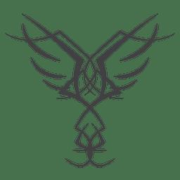 Linie Kunst Nadelstreifen Flügel