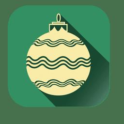 Line print christmass ball
