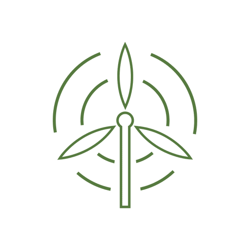 Line windmill icon.svg Transparent PNG