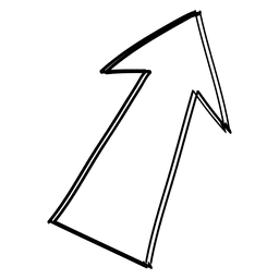 Linear angled arrow drawing