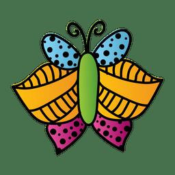Linien punktiert verzierter Schmetterling