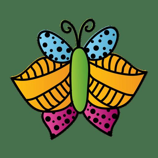 Linien punktiert verzierter Schmetterling Transparent PNG