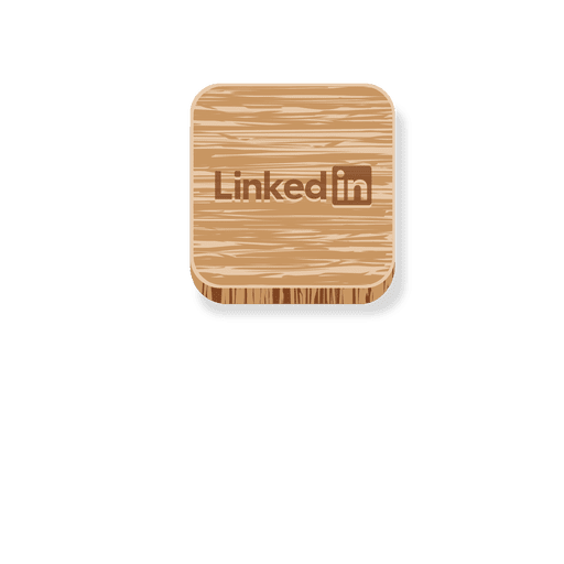 Linkedin Wooden Square Icon Transparent Png Svg Vector