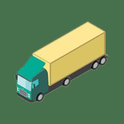 Icono logístico de transporte de camiones.