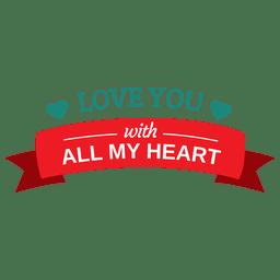Liebe dich Valentinstag Abzeichen