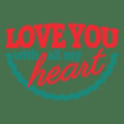 Liebe dich Valentinstag Label