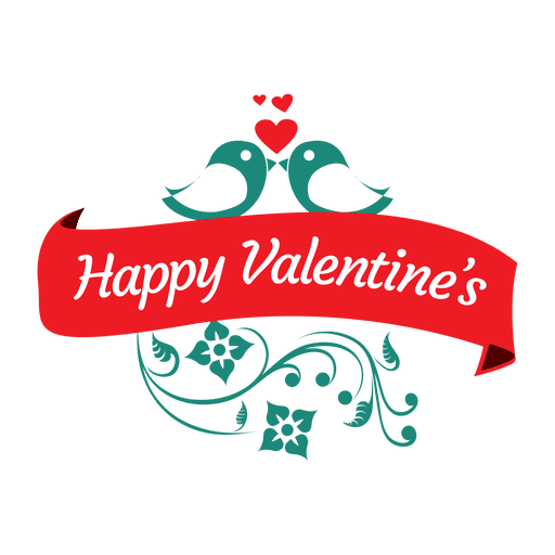 Lovebirds valentine badge - Transparent PNG & SVG vector