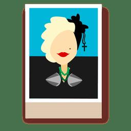 Madona cartoon avatar
