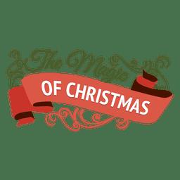 Magia de la insignia de adorno de navidad.