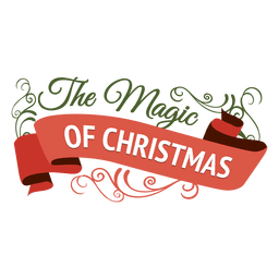 Magic of christmas ornament badge