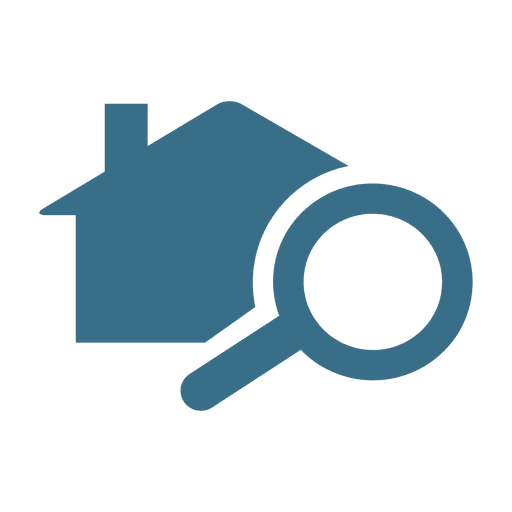 magnifier home real estate icon transparent png amp svg vector