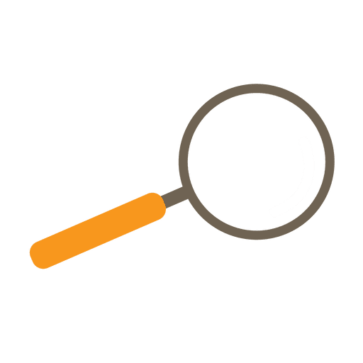 Magnifying glass camping icon