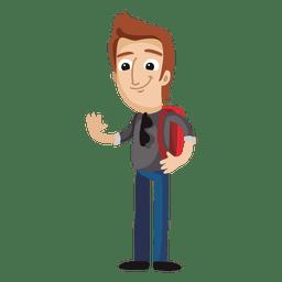 Estudiante masculino de dibujos animados