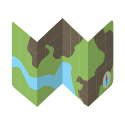 Map travel kit icon