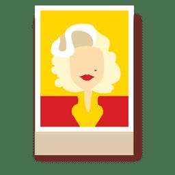 Marilyn Monroe Zeichentrickfigur