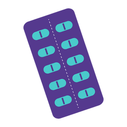 Medicine strip icon