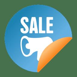 Megaphone flipped sale sticker