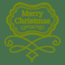 Frohe Weihnachten dekoratives Emblem