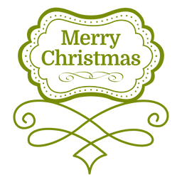 Merry christmas decorative emblem