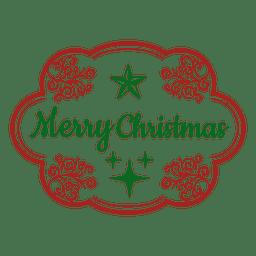 Etiqueta decorativa feliz navidad