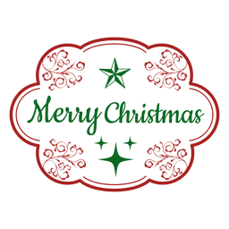 Merry christmas decorative label