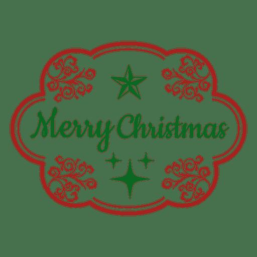 Frohe Weihnachten dekorative Label Transparent PNG
