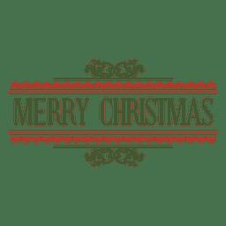 Selo decorativo de feliz Natal