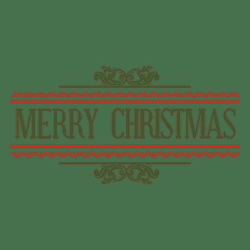 Merry christmas decorative seal Transparent PNG