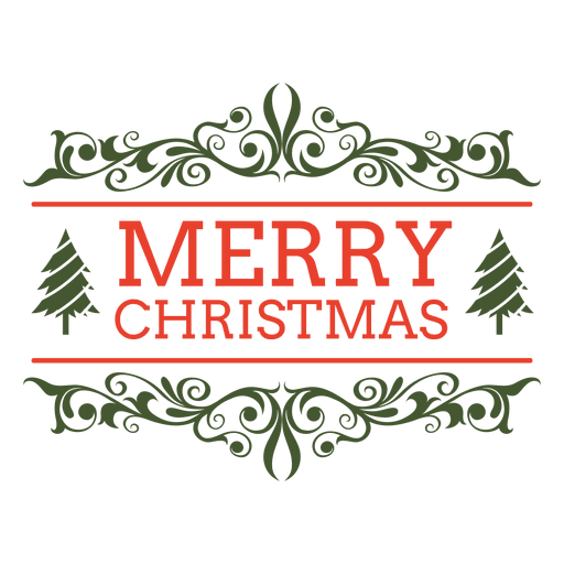 Christmas Graphics Png.Merry Christmas Ornamented Label Transparent Png Svg Vector