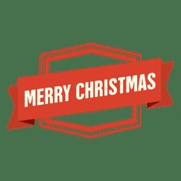 Distintivo de fita feliz Natal