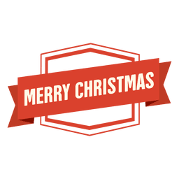 Merry christmas ribbon badge