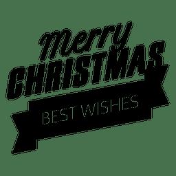 Etiqueta de insignia de cinta de feliz navidad